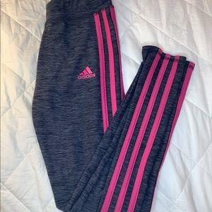 Adidas pink grey pants